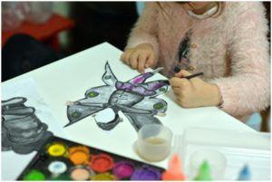 Kreativni rad roditelja sa decom od 4 do 6 godina, radionica Vilenjaci.