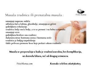 Specijalna nagrada, masaža trudnice na fotokonkursu NajFoto  trudnica, za  april mesec.