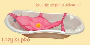 Za bezbedno i udobno kupanje novorodjenčeta i bebe do 1. Godine.