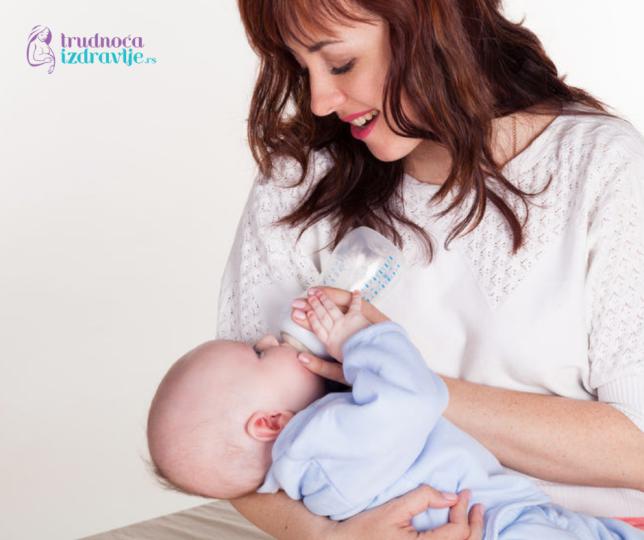 mama beba i flašica - adaptirane formule mala