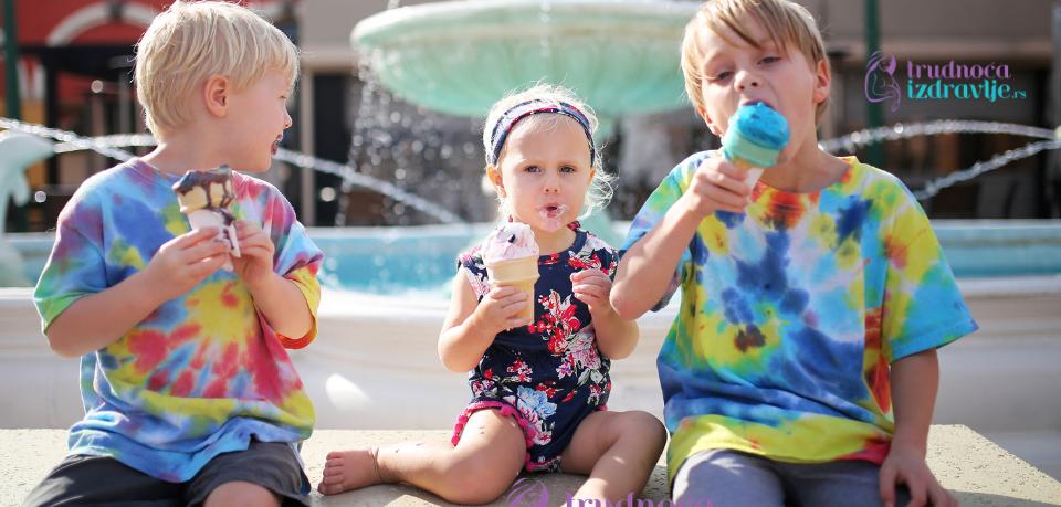 Naučite dete da sladoled polako topi u ustima!