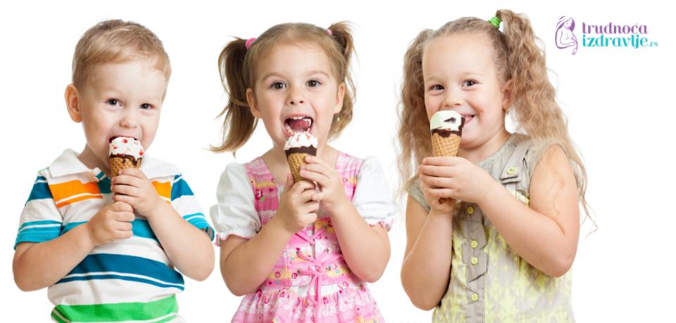 Sladoled je sjajna užina!