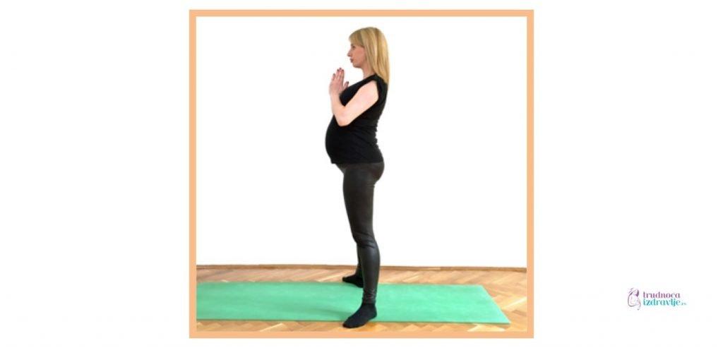 Joga za trudnice - vežba Boginja