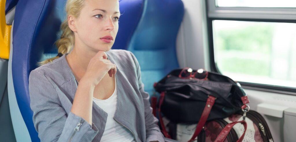 Trudnica putuje vozom