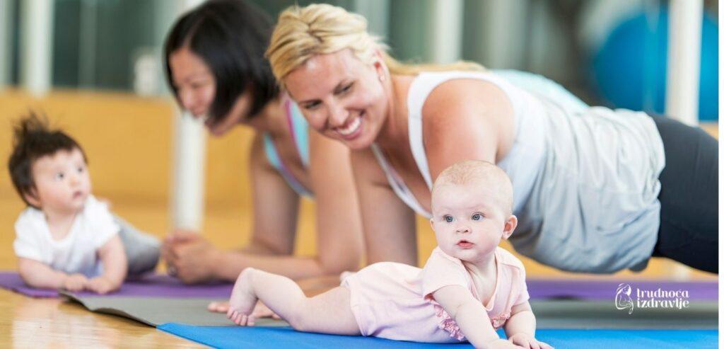 yoga za mamu i bebu vezba iskorak