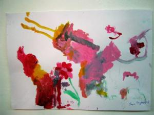 Crveni i roze tonovi Jane Radenković , uzrast 4 godine