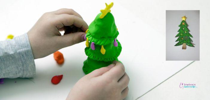 kreativni rad sa decom, napravite novogodišnju jelku