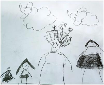 Majka je na crtežu četvorogodišnje Sofije Leontić, znatno veća od ostalih figura.