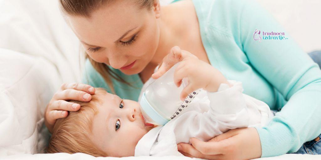 potrebe za adaptiranom mlečnom formulom za bebe do šestog meseca života