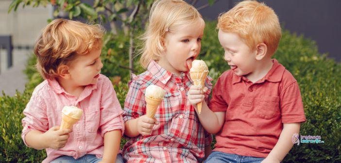 Sladoled, mali obrok i užina za dete