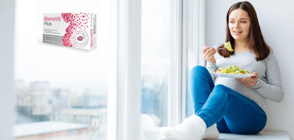 MamaVit Plus, nutritivna podrška za žene u periodu pre, za vreme i posle trudnoće.